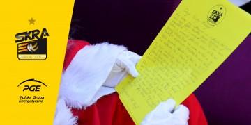 List siatkarzy PGE Skry do św. Mikołaja - czy przyjedzie do hali Energia?