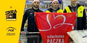 Siatkarze PGE Skry znów przygotowali Szlachetną Paczkę! Kochan, Gregor i Kacper na zakupach!